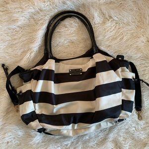 Kate Spade Black & White Stripe Baby Diaper Bag